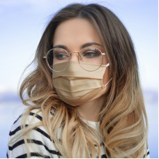 [20 PCS] - Reusable Cotton Sateen Face Mask - Beige / Natural Skin Color