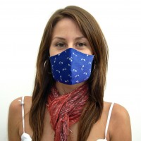 [10 PCS] - 2-Layer Reusable Cotton Face Mask - Blue Note