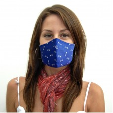 [20 PCS] - 2-Layer Reusable Cotton Face Mask - Blue Note