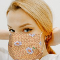 [10 PCS] - 1-Layer Reusable Cotton Face Mask - Colors