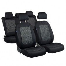 BLACK GREY CAR SEAT COVERS FOR NISSAN MICRA VW LUPO